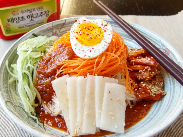 Bibim Naengmyeon - Korean spicy cold noodles